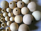 Plain Natural  Unfinished Wooden Beads  Choice of Size Jewellery, dolls,