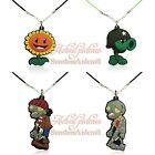 20pcs Plants vs Zombies Cute Pendant Rope Chain Choker Necklace Jerewly Kid Gift