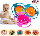 Non Spill Feeding Toddler SS Gyro Bowl 360 Rotating U6 Baby Avoid Food Spill