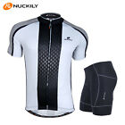 Men MTB Cycling Bike Short Sleeve Jersey Shorts Set Bicycle Sports Clothing Suit