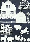 LOTS 3 - 36 PCS. SUB-SETS FARM DIE CUTS* HOUSE BARN COW HORSE FENCE CHICK *READ!