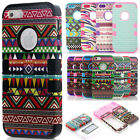 Bohemian Vintage Silicone Rubber Rugged Protective Cover Case for iPhone SE 5s 5