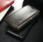 Luxury Leather Wallet Card Holder Flip Case Cover For Samsung Apple LG OnePlus