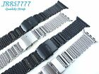 42mm Apple Watch Band Stainless Steel Silver Black Shark Series 1 2 3 Adapter