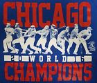 CHICAGO CUBS 2016 N L Adult T-SHIRT MLB 2016 WORLD CHAMPIONS