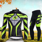 NUK Men's Team Cycling Bike Bicycle Clothing Suit Long Sleeve Jersey & Pants Set