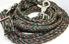 western roping barrel reins braided paracord tack camo