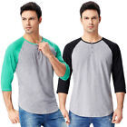 Men's 3/4 Sleeve Sleeve Slim Fit Casual Cotton Sport T-Shirt Tops Tee Shirt Tops