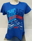 CHICAGO CUBS 2016 WORLD SERIES ROYAL BLUE WORLD CHAMPS Adult Ladies T-SHIRT