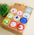 Molang Mini Gift Seal Round Sticker 20EA Point Decor Limited Artist Edition