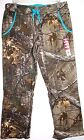 REALTREE FLEECE SWEAT LOUNGE PANTS CAMO WOMEN XL(16-18) & 2XL(20) BLUE