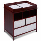 Infant Baby Diaper Station Nursery Furniture Changing Table w/3 Baskets Storage фото