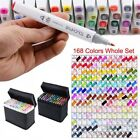 218 168 80 Colour Marker Pen Touch New Twin Tip Graphic Art Drawing Broad Fine