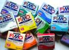 staedler job lot fimo 12 assorted x soft , effect , classic . 56 / 57g mixed xxd