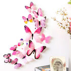 12pcs Or 19pcs 3d Butterfly Wall Decal Removable Sticker Kids Nursery Decoration