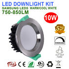 6X 10W CONCAVE FACE LED DOWNLIGHTS KITS DIMMABLE  CHROME LED  CUTOUT70MM IP44