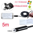1-10M 5/7/8mm 6LED Android WIFI Endoscope Waterproof Borescope Inspection Camera <br/> 2 in1 For Windows&amp;Android&radic;Wifi Hard tube Upgrade&radic;TYPE-C