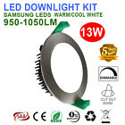 6X13W SATIN CHROME LED DOWNLIGHT KIT DIMMABLE 90MM CUTOUT WARM/COOL WHITE IP44