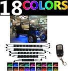 10PC COLOR CHANGING EZGO CLUBCAR GOLF CART NEON LED UNDERGLOW LIGHT KIT w REMOTE