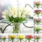 10pcs False Tulip TULIPS REAL TOUCH PU Fake Flowers BOUQUET Home Wedding Decor☇