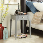 Mayfair 1-Drawer Rubberwood Accent Table with Scalloped Edge and Contoured Legs