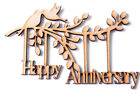 Wooden MDF Happy Anniversary Branch Shape Anniversary Frame Gift Anniversary