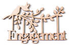 Wooden MDF Branch Shape with Birds, Family Tree Branch, Wedding- 'Engagement'
