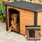 New Precision Outback Log Cabin Wood Wooden Pet Dog House w Door - Many Sizes