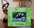 "4""x6"" PHOTO FRAME - IRISH CLOVER 1 - ADD NAME OR TEXT FREE - Family Gift Picture"