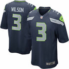 Seattle Seahawks Russell Wilson Nike Men's College Navy Game Jersey