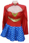 FEMMES WONDER WOMAN SUPER HROS COSTUME DGUISEMENT ROUGE BAS 6 8 10 12 14 16