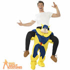 Adult Bananaman Piggy Back Fancy Dress Costume Stag Ride On Outfit