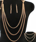 NEW ARRIVALthinner link worn on neck or waist body chain necklace