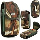 CAMO Pouch Metal Belt Clip for phones with Case Samsung Motorola ZTE Camouflage
