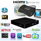 New Mini M8S2 Quad Core S905X WiFi Android 6.0 Smart TV Box+Wireless Keyboard