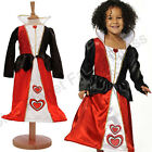 DELUXE CHILDRENS KIDS GIRLS QUEEN OF HEARTS FANCY DRESS COSTUME BOOK WEEK DAY