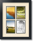 "ArtToFrames Collage Mat Picture Photo Frame - 4 4x6"" Openings in Satin Black 2"