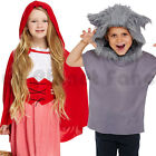 CHILDRENS KIDS RED RIDING HOOD WOLF FAIRYTALE FANCY DRESS COSTUME BOOK DAY