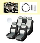 """Full PU leather Car Seat Covers 15"""" SW Compatible to Dodge 559 Black/Silver $47.0 USD on eBay"""