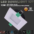 1X 6X 13W DIMMEABLE  LED DOWNLIGHT KITS WHITE  SQUARE RECESSED WARM/COOL WHITE