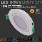 6X LED DOWNLIGHTS KITS 13W DIMMABLE WARM/ COOL WHITE 95MM ADJUSTABLE FITTINGS