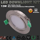 6X13W GIMBAL DIMMABLE LED DOWNLIGHT KIT WARM OR COOL WHITE 95MM CUTOUT FIVE YEAR