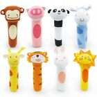 Baby Soft Animal Toy Rattle Squeaker Plush Suitable For Infant UK SELLER
