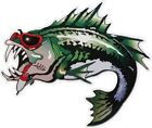 COOL BASS / FISH FISHING  color vinyl decals stickers bumper  (318)