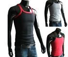 Fashion Man Male Classic Elastic Tank Tops Square Neck Shirts Gym BOYDMB04