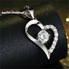 CZ Zirconia Open Heart Jewelry (Silver925) Beautiful Gorgeous Necklace Gift Mom