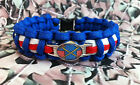 British Army Of The Rhine 550 Paracord Survival Bracelet/ Dog Collar BAOR