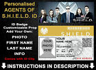 Avengers Agents of S.H.I.E.L.D Shield ID Badge Personalised Cosplay  Comic Con