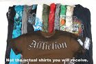 Lot of 10 Random Men's Graphic Tees w 1 Affliction BEST DEAL COOLEST Shirts!