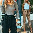 New Stylish Women Long Pants High Waist Stretch Jeans Slim Pencil Trousers Plus